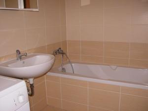 Ванная комната оборудована стиральной машиной