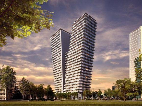 Самый высокий жилой небоскрёб Чехии строится в Праге по проекту архитектора Радана Губичка. Инвестор - люксембургская фирма Aceur Investment S.A.